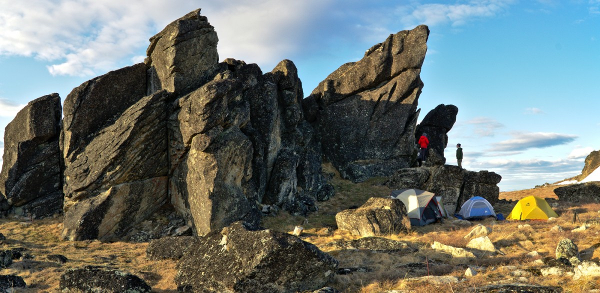 Our spectacular little campsite at the Granite Tors
