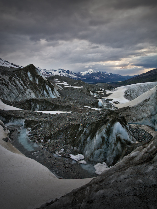 Supraglacial stream on the Canwell Glacier
