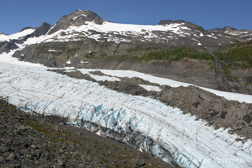 Looking over the Worthington Glacier in the Chugach Mountains