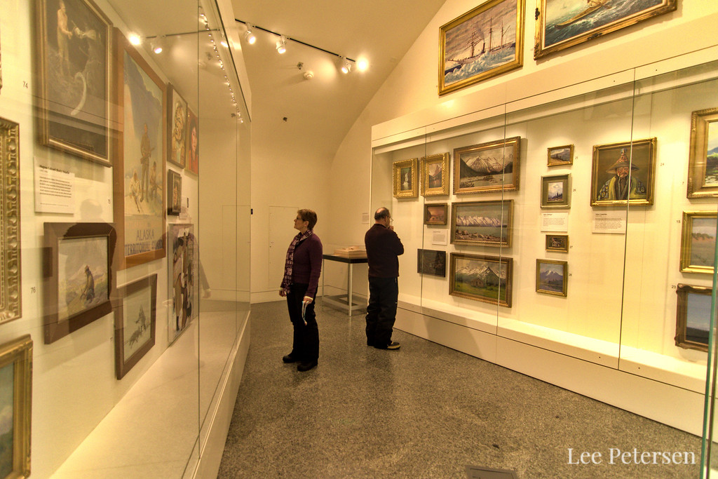 The Collections Gallery on the first floor of the Museum of the North Fairbanks