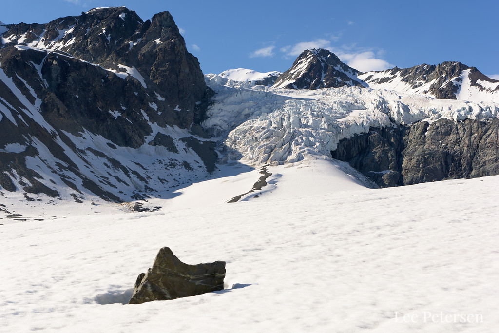 The Gabriel Icefall on the Gulkana Glacier